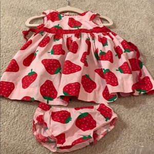 Strawberry Dress for Baby Girls